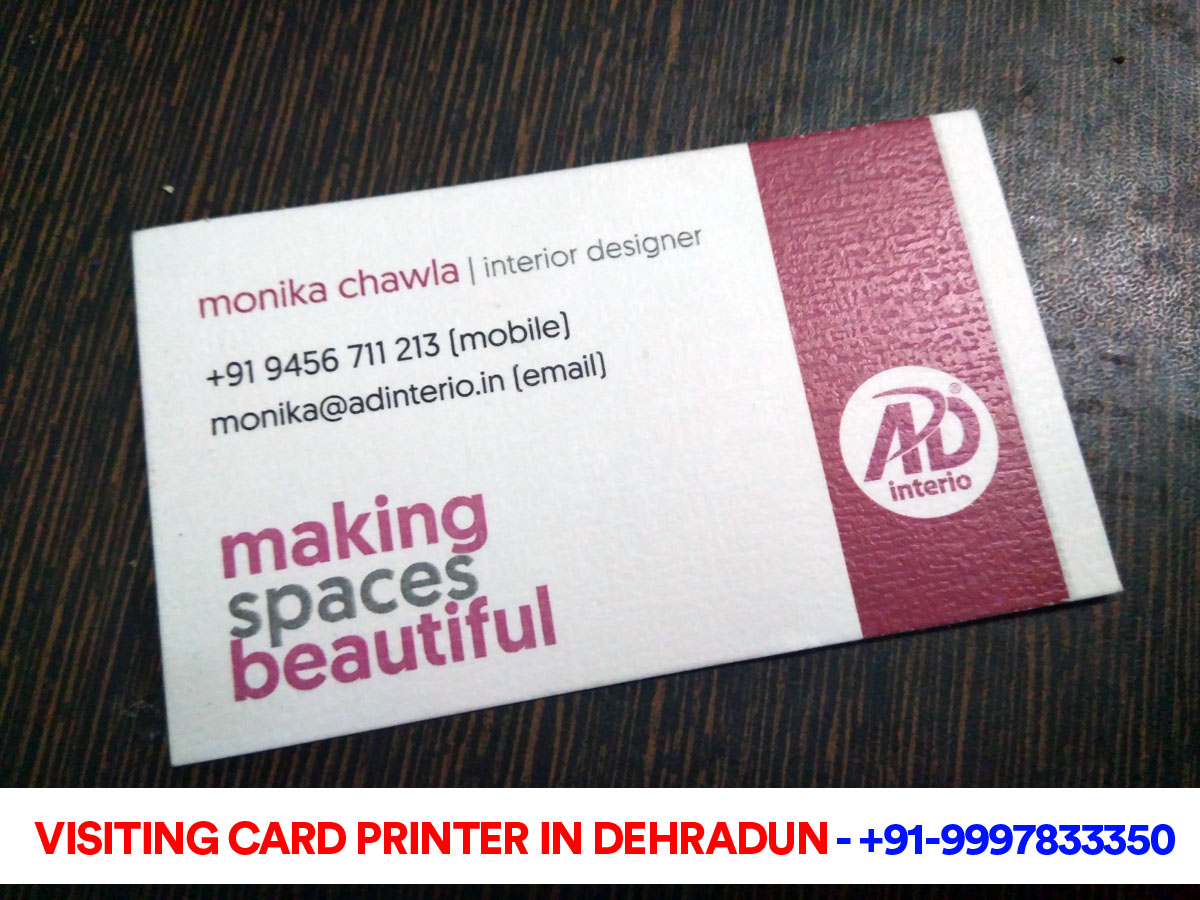 Visiting Cards for AD-Interio Dehradun