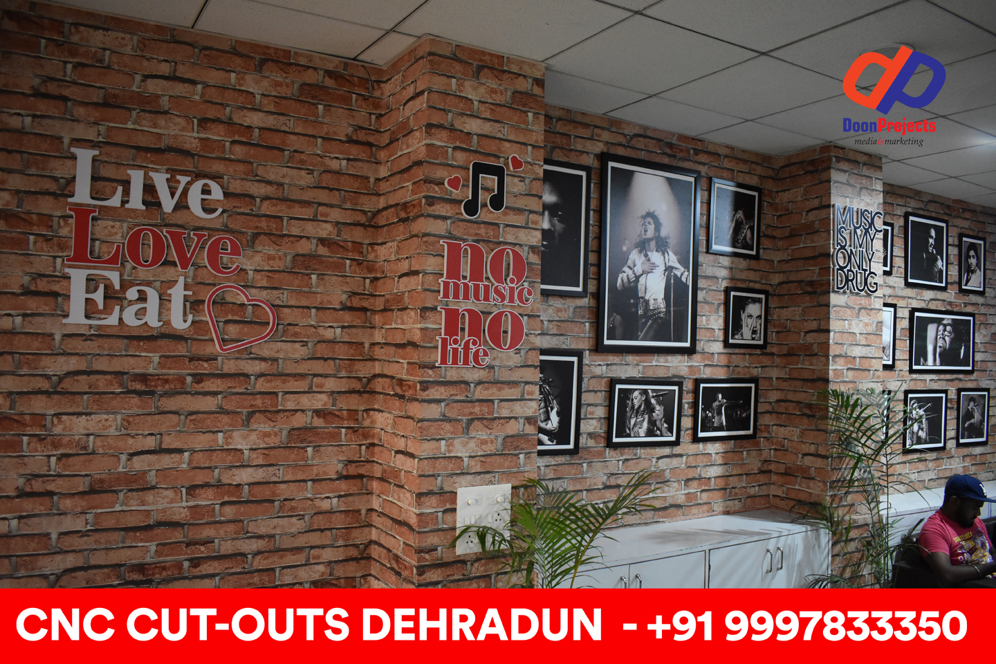 3D Sign Cutouts and Photo Frames Designed and Installed at Dehradun Based Restaurant