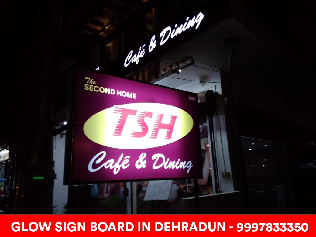 Glow Sign Board for Restaurant in Dehradun