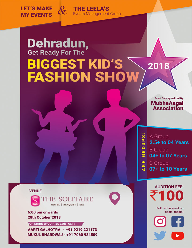 Poster Design for Fashion Event in Dehradun