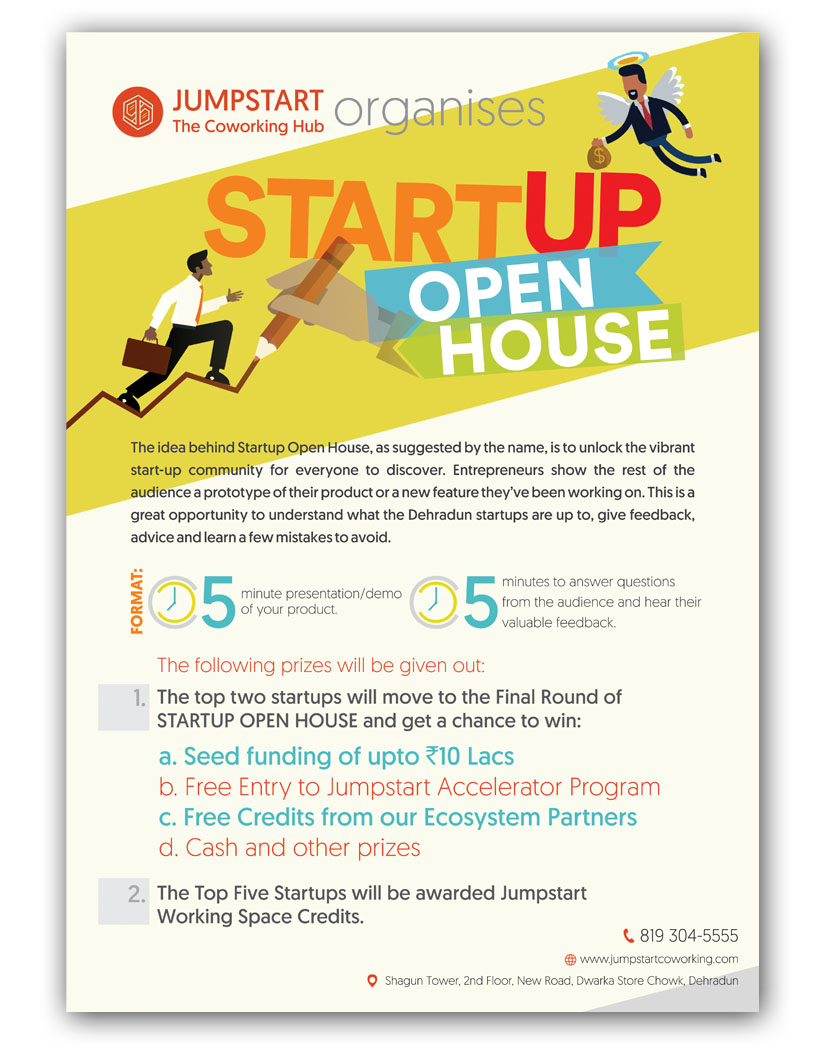 Poster Design for Jumpstart Coworking Dehradun