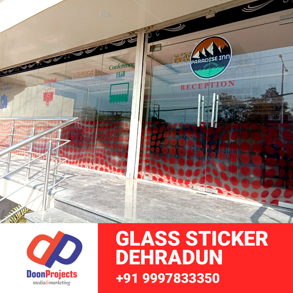 Glass Sticker Final Printing Dehradun