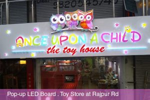 Pop Up LED Baord for Toy Store