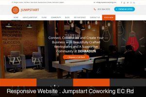 Website Designed for Jumpstart Coworking