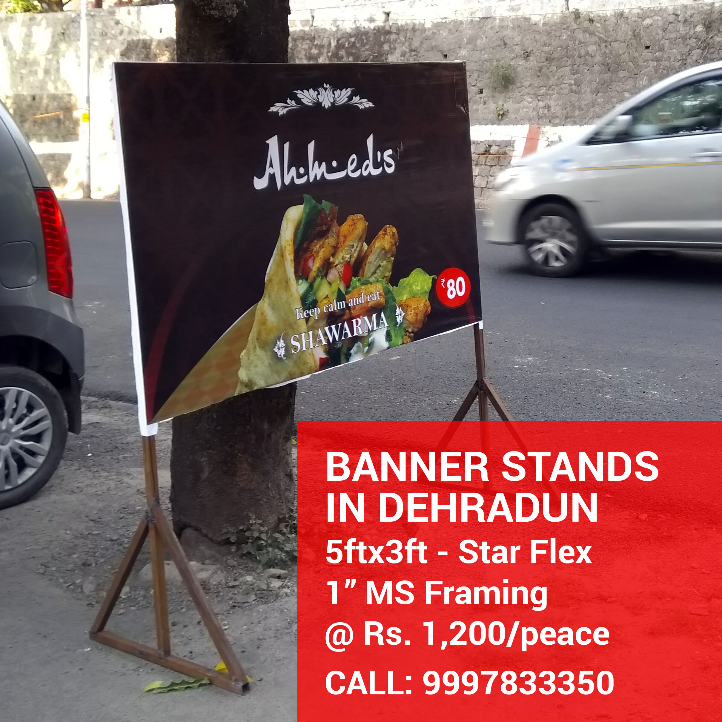 Banner Stands for Restaurant