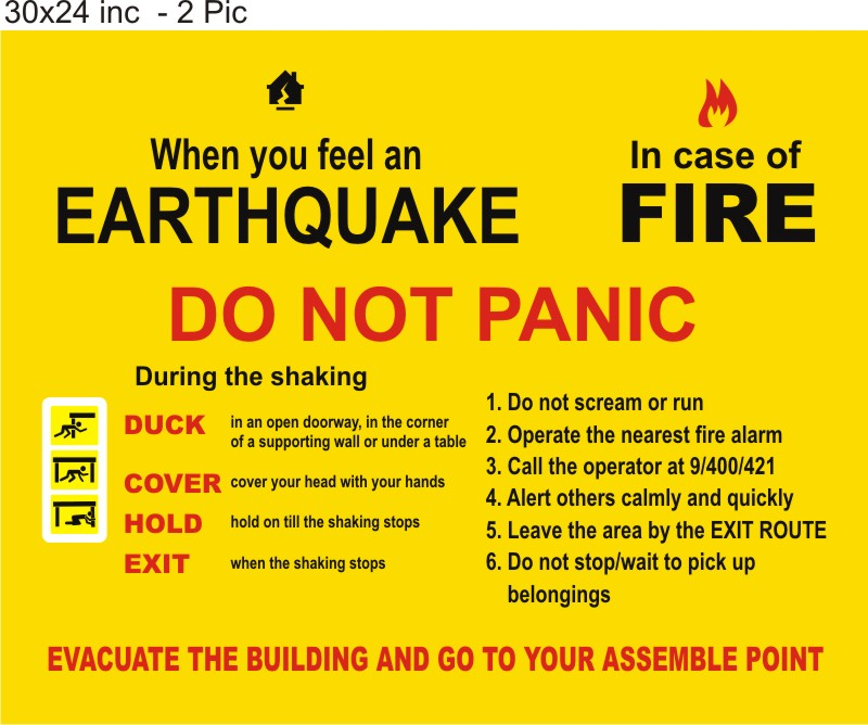 Earthquake Safety Rules and Fire Safety