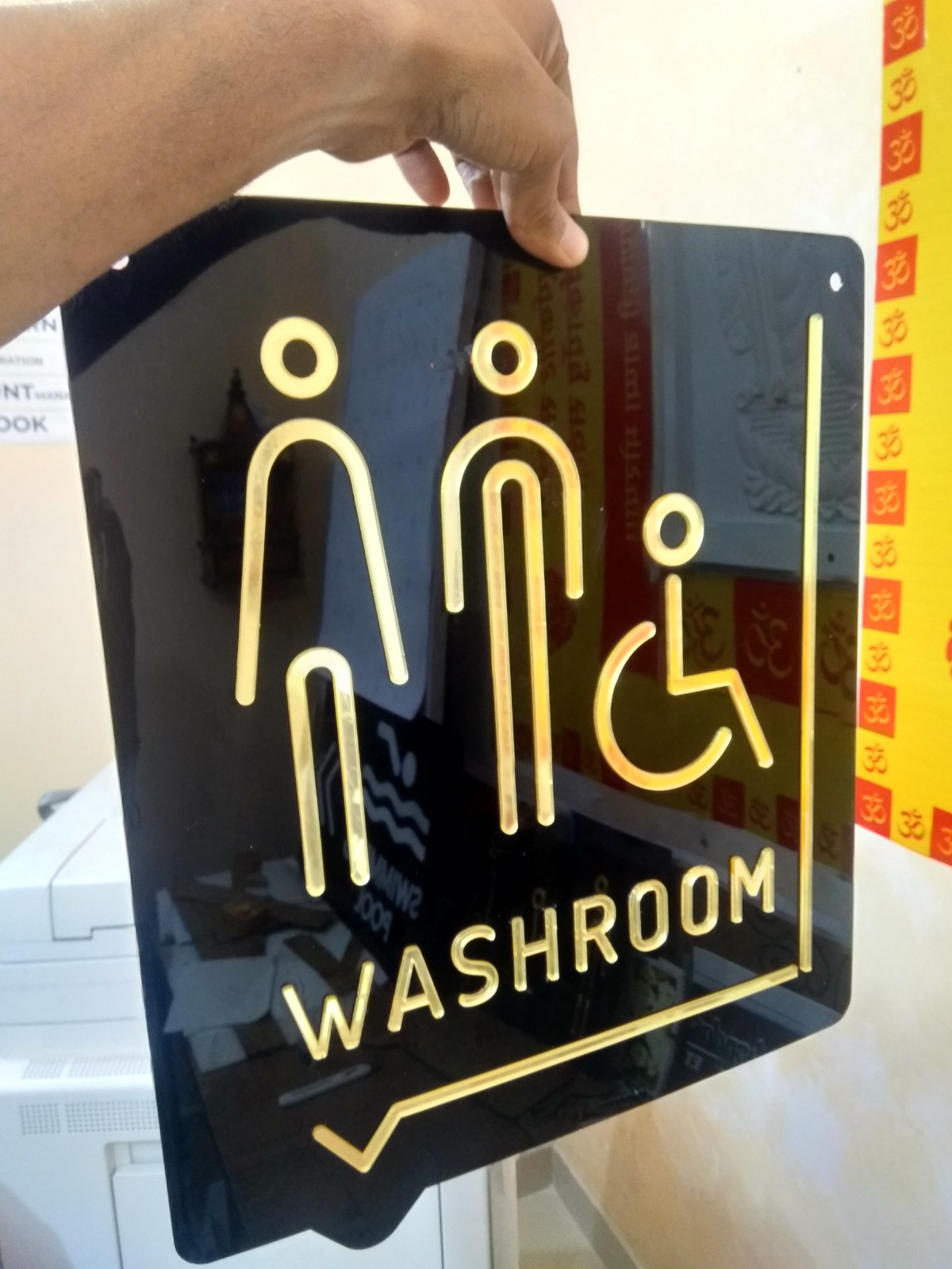 Hanging Bathroom Symbol Sign