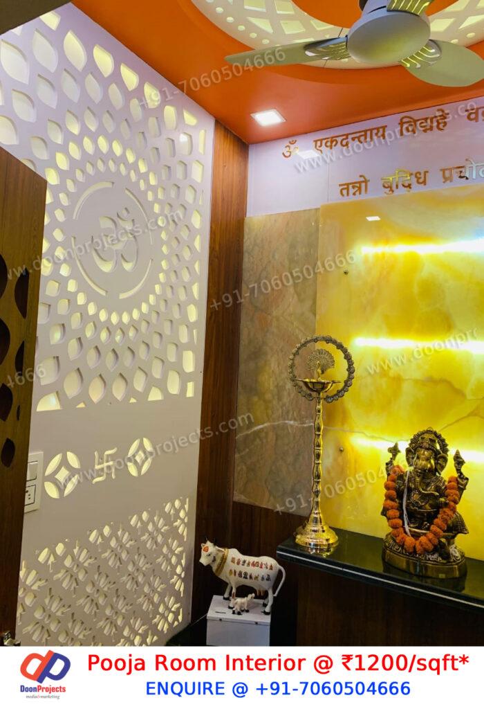 Italian Marble Pooja Room Interior