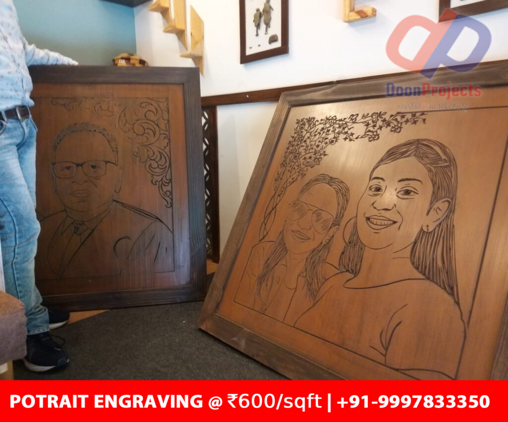 4x4 Portrait Engraving