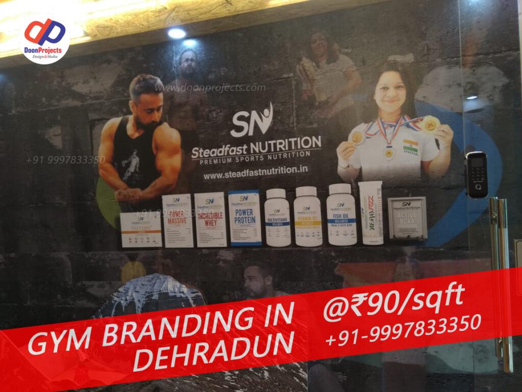 Matte Finish Sponsored Branding by SN Nutrician on Gym