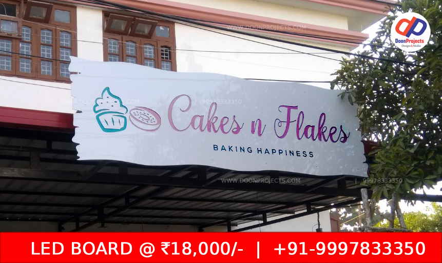 LED Board for Cakes and Shakes Race Course Dehradun