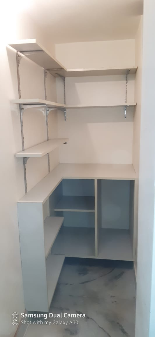 Kitchen Storage area made racks with Plyboard and Laminates @ Rs. 28,000/-