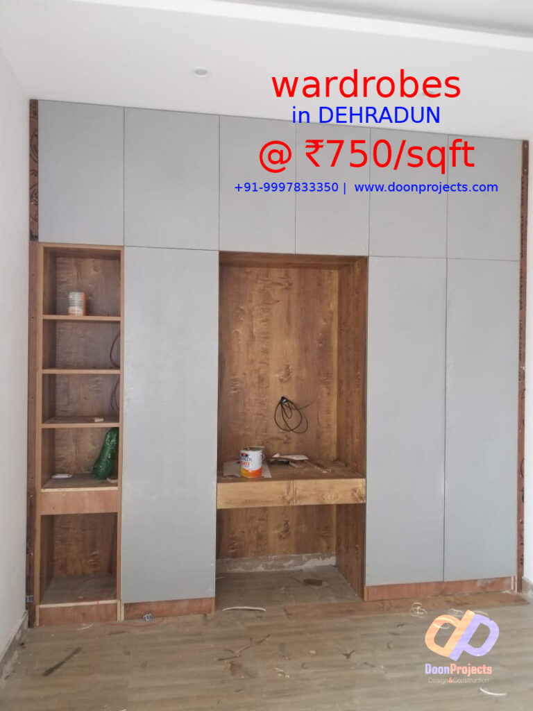 Wardrobe with Matte Finish - Structure HDHMR 18mm with .8 Laminates