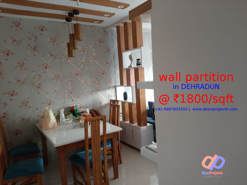 Pine Ceiling with Partition with PVC Wall Panels