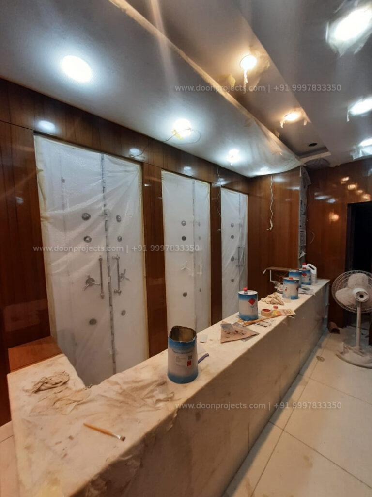Nano White Stone Counter with Iron Tijori with Duco Paint Finish