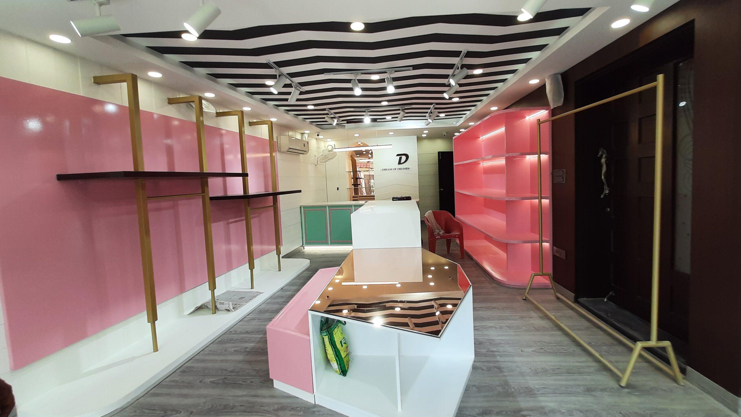 Boutique Interior and Branding in Dehradun Acrylic, Metal and Neon