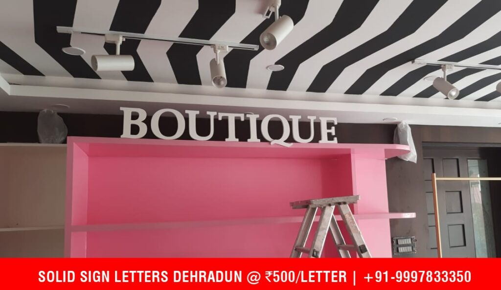 Duco Painted Sign Letter for Boutique in Dehradun